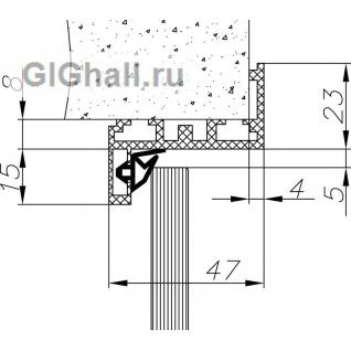 Алюминиевая Z-обр. коробка Черная, комплект