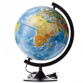 Глобус физико-политический с подсветкой,320мм