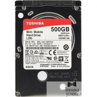 "Toshiba 500Gb Toshiba L200 Slim (HDWK105UZSVA) SATA 3, 5400 rpm, 8Mb, 2.5"", 7.5 mm"