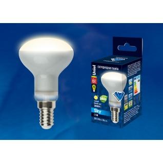 Uniel LED-R50-6W/WW/E14/FR PLS02WH картон