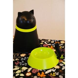 Контейнер+миска для кошки Qualy Kitt черная