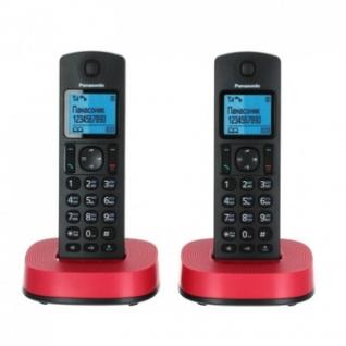 Радиотелефон Panasonic KX-TGC312 RU черный/красный