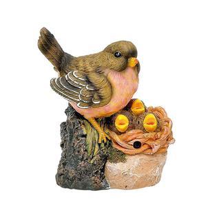 Фигурка садовая птичка с гнездом Verdemax