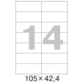 Этикетки самоклеящиеся Promega label 105х42,4 мм/14 шт. на листе А4 (25л.