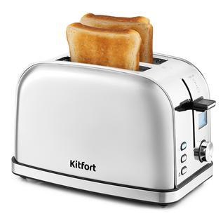 KITFORT Тостер Kitfort KT-2036-6, серебристый