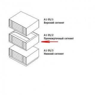 Картотека ПРАКТИК A1-05/2(центр)шкаф,5 ящ.,ц.замок