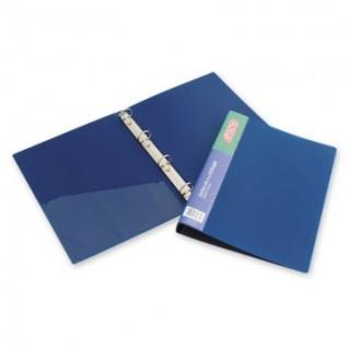 Папка на 4-х кольцах пласт. 25/32мм А4 ATTACHE F504/07 синяя Ро
