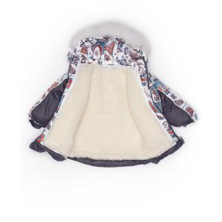 Комплект MalekBaby (Куртка + Полукомбинезон), С опушкой, №92/1 (Виг-вам+серый) арт.409ШМ/2