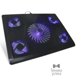 """Crown CROWN Подставка для ноутбука CMLC-205T black (Для ноутбоков до 17"""" ,Размер: 390*290*25мм;,Размер вентилятора: 70мм *4шт., 140мм *1шт;LED подсветка; USB;.)"""
