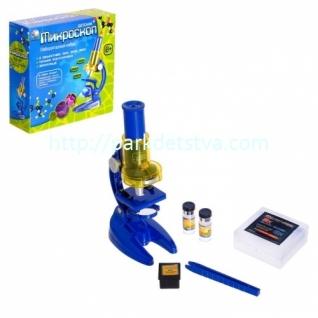 Микроскоп детский 3 объектива, фокусировка, зеркальце