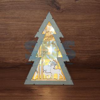 Neon-Night Деревянная фигурка с подсветкой «Елочка» 20х6,5х29 см