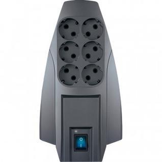 Сетевой фильтр PILOT X-Pro (6-4упр./5м/10А/650Дж/темно-серый)