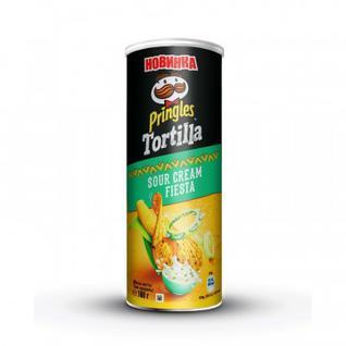 Чипсы Pringles Tortilla кукурузные со вкусом сметаны, 160гр.