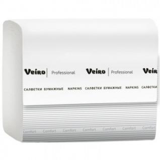 Салфетки бумажные Veiro Professional 2слбелвтор220л15пач/уп NV211