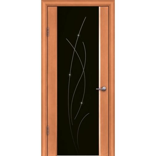 Дверь ульяновская шпонированная Астарта со стеклом триплекс 49375 2