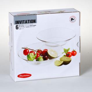 Тарелка суповая INVITATION прозрачная 22см 6шт/уп 10335B