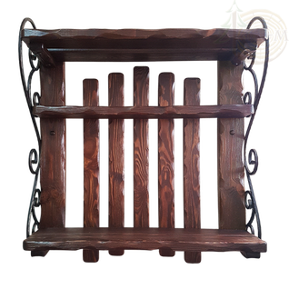Полка Барин 1 с элементами ковки