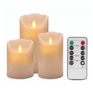 Набор светодиодных свечей 3 шт с пультом ДУ