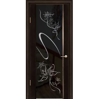 Дверь ульяновская шпонированная Альмека со стеклом триплекс