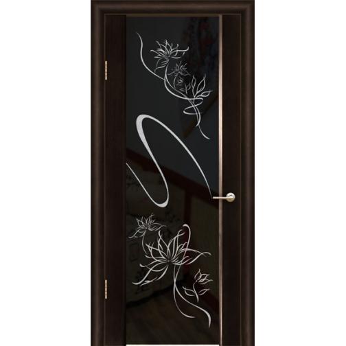 Дверь ульяновская шпонированная Альмека со стеклом триплекс 49378