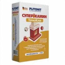 Клей для плитки Плитонит СуперКамин ТермоКлей /25,0 кг/ (48 шт на поддоне)