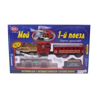 """Железная дорога """"Мой первый поезд"""" (свет, звук, пускает дым), 282 см Play Smart"""