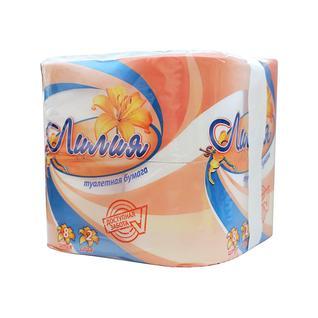 Бумага туалетная двухслойная ЛИЛИЯ 8 рулонов, белый Лилия