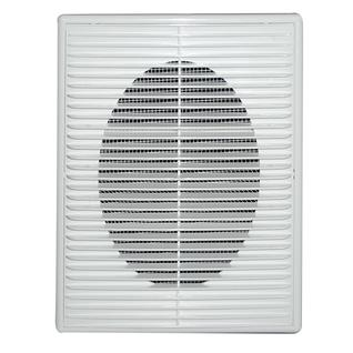 Решетка вентиляционная вытяжная 180*250 с рамкой белая серия ПВР Виенто
