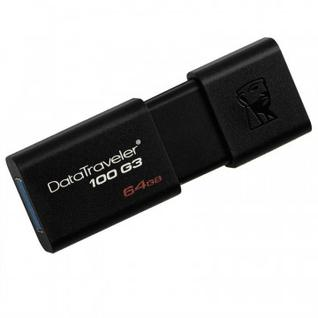 Флеш-память Kingston DataTraveler 100 G3, 64Gb, USB 3.0, черн,DT100G3/64GB