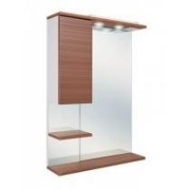 Шкаф-зеркало Onika Элита 60.01 штрокс коричневый, правый