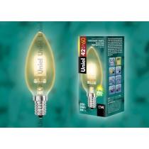 Uniel HCL-42/CL/E14 candle gold