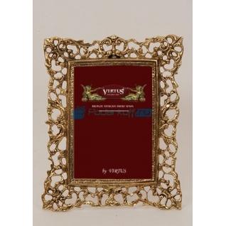"""Фоторамка из бронзы """"Венеция""""средняя, цвет золотой (размер фото 10х15)"""