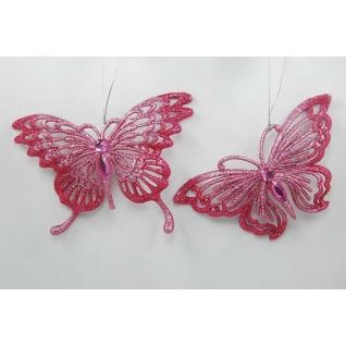Украшение Бабочка, цвет темно-розовый, ассортимент