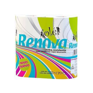 Полотенце бумажное двухслойное Renova супервпитывающее 37 листов, 2 рулона