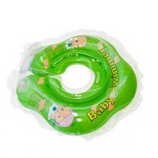 Круг для купания BabySwimmer ВS02C-В салатовый (полуцвет+погремушка внутри) 3-12кг