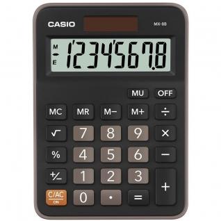 Калькулятор настольный КОМПАКТНЫЙ Casio MX-8B-BK-W-EC,8-разрядный