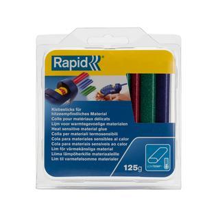 Стержни клеевые овальные RAPID 9мм(красный зеленый синий) низкотемп. (25сек) 94мм длина 125 гр