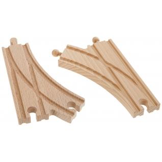 Набор из 2 раздваивающихся полотен для деревянной ж/д, 14.5 см Eichhorn
