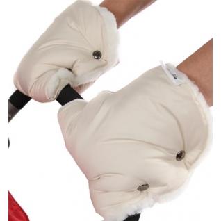 Муфта для рук BamBola шерстяной мех+плащевка(лайт) Бежевые 155B раздельные