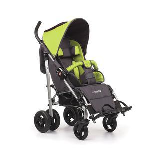 АРМЕД Кресло-коляска для детей-инвалидов и детей с заболеваниями ДЦП с принадлежностями: VCG0C UMBRELLA NEW (пневмо, зелёный-серый)