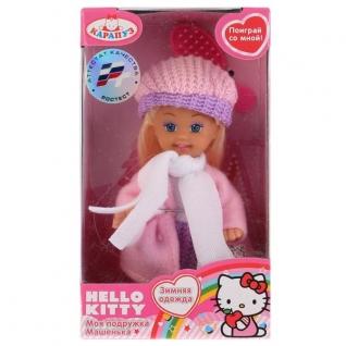 "Кукла ""Карапуз"" Hello Kitty. Машенька 12см, Твердое Тело, В Зимней Одежде В Русс."