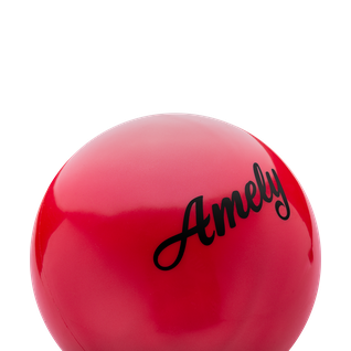 Мяч для художественной гимнастики Amely Agb-101 19 см, красный