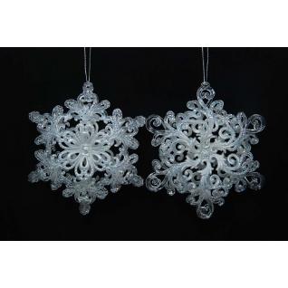Украшение Снежинка, цвет жемчужно белый, ассортимент