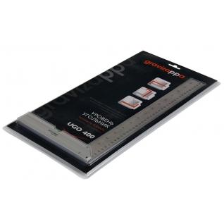 Угольник-уровень GRAVIZAPPA UGO400 306-010 200х400мм алюминиевый литой, 1 ...