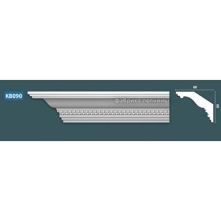 КВ090 Карниз гипсовый с орнаментом - 65х80мм