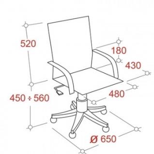Кресло VB_EChair-563 TPU к/з черный, металл (детали в спинке)