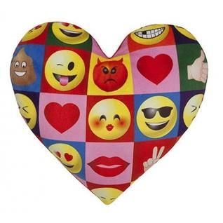 Подушка Imoji в форме сердца, квадраты, 30 х 30 см Ilanit