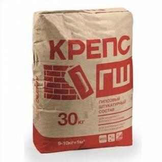 Штукатурка Крепс ГШ гипсовая (новинка) /30,0 кг/ (42 шт на поддоне)