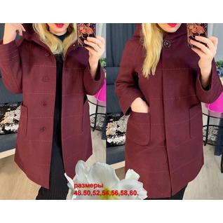 Весеннее драповое женское пальто большого размера р.48-60