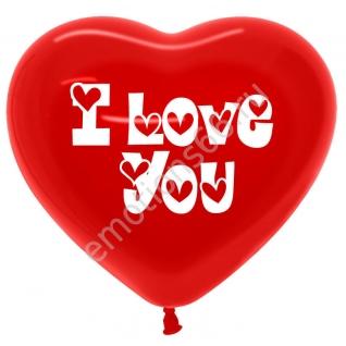 Сердце Красное с надписью I Love you